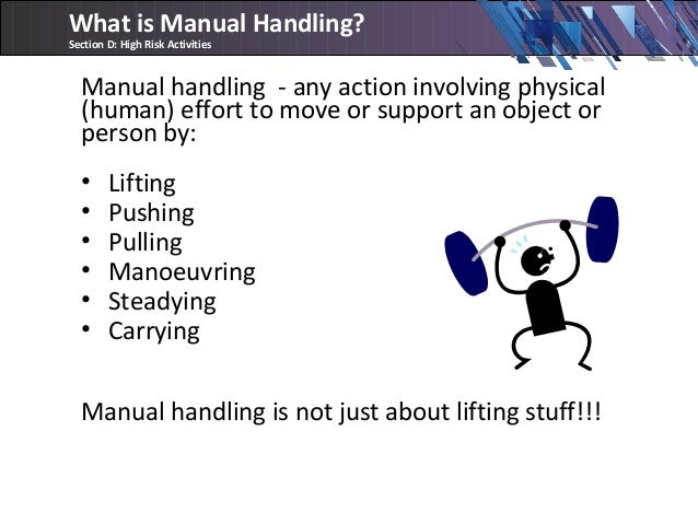 pushing and pulling manual handling