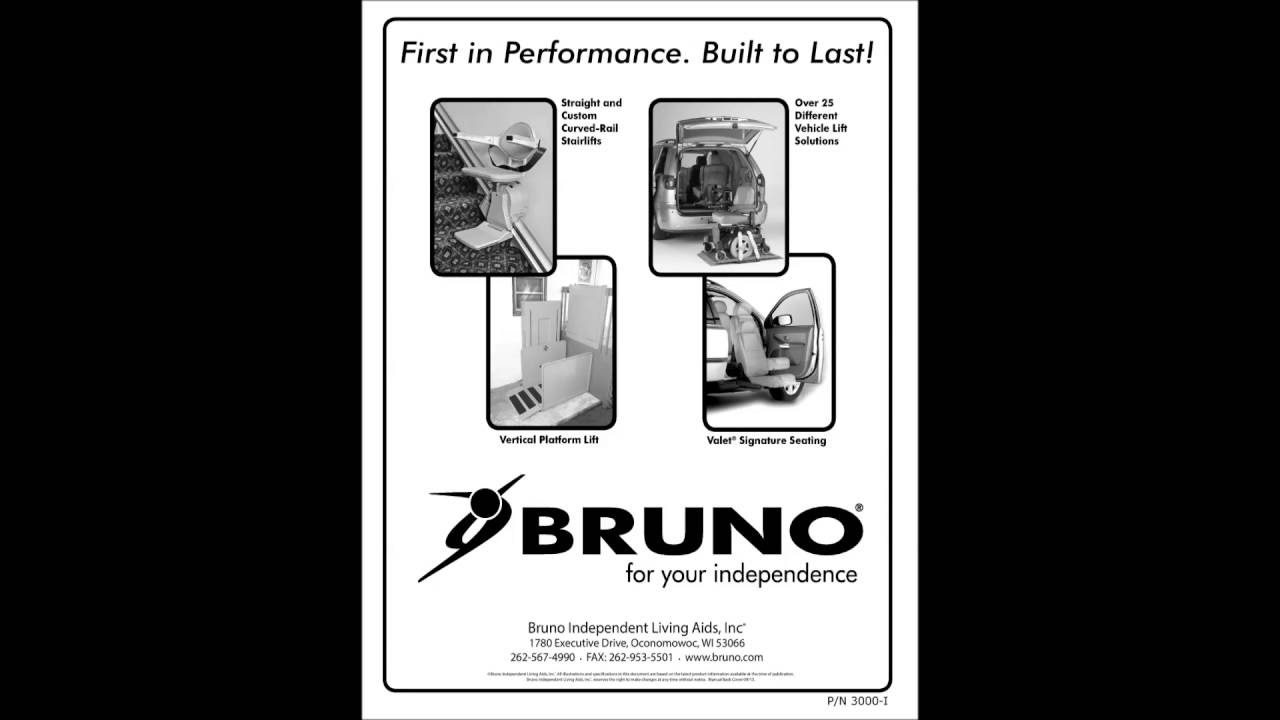bruno custom stairlift installation manual