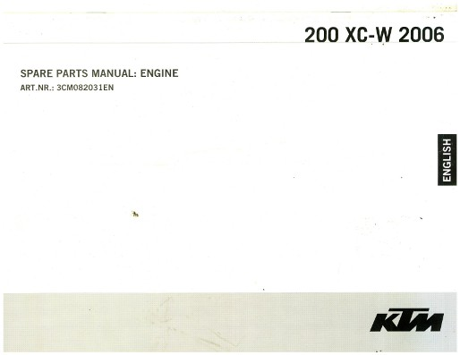 2006 ktm 300 xc w service manual
