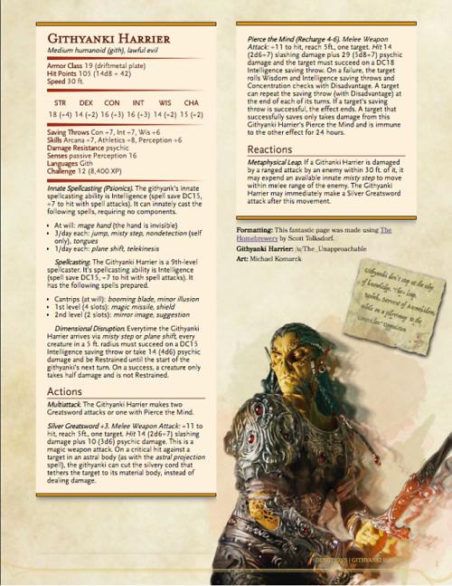 githzerai 3.5 monster manual
