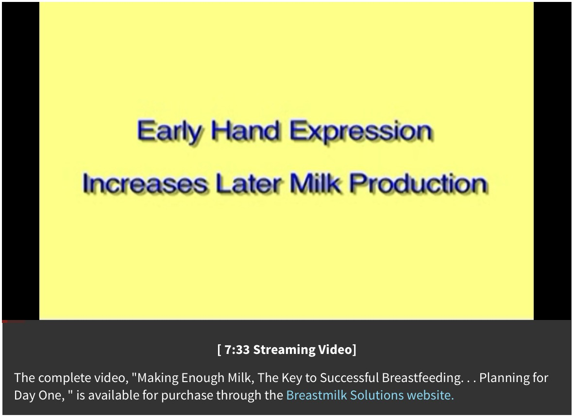 hand manual expression of breastmilk
