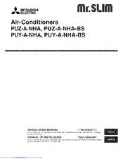 mitsubishi puy-a12nha4 installation manual