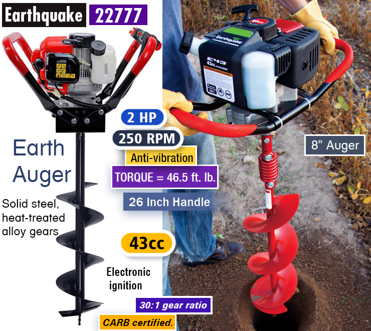 earthquake 43cc 2-cycle auger powerhead manual