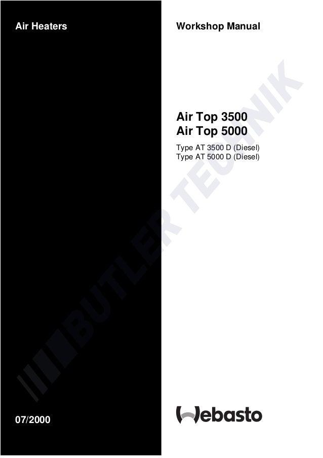 webasto air top 2000 workshop manual
