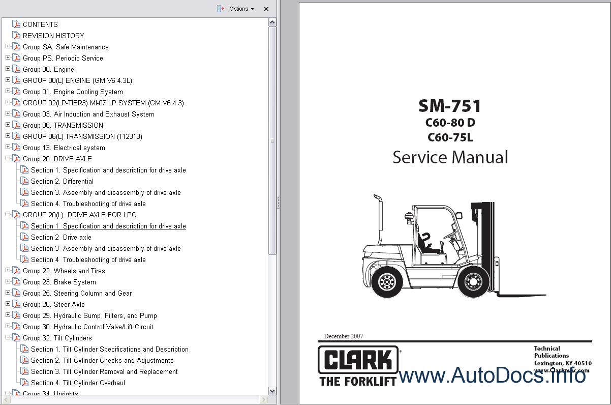repair manual for 1974 clark forklift