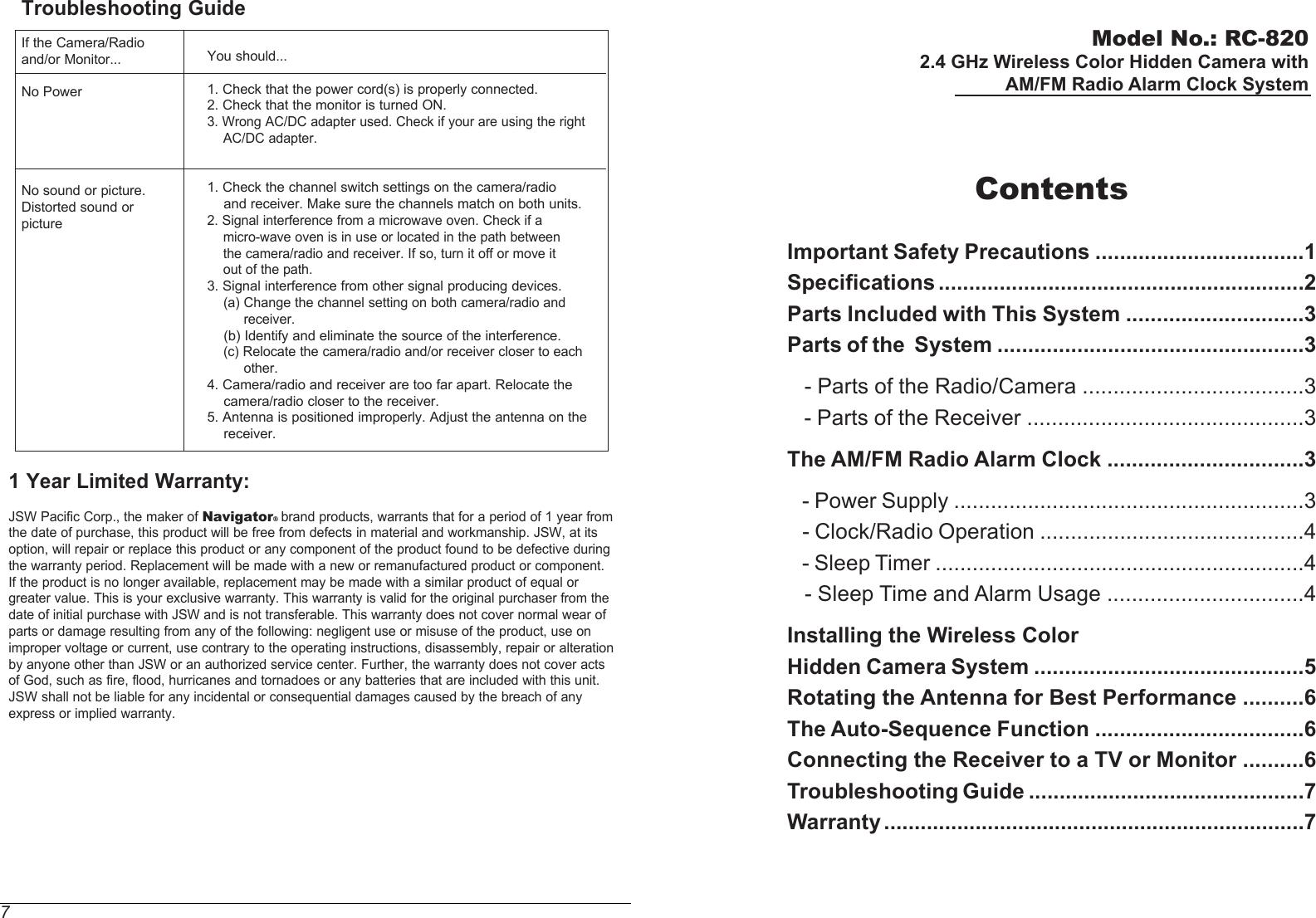 hidden camera manual of instructions
