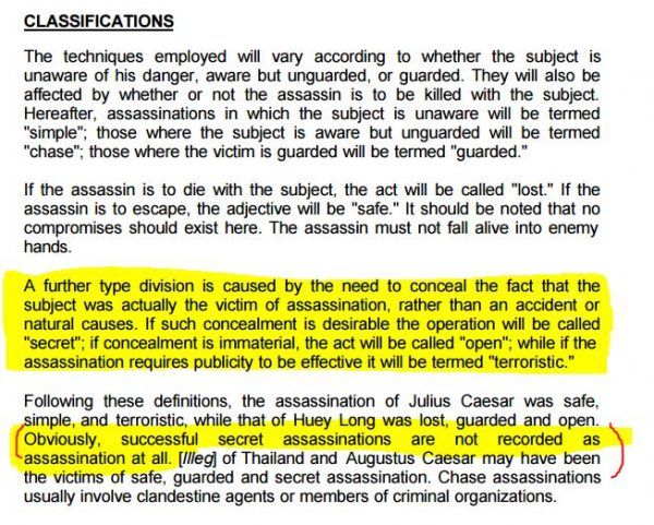 the secret cia assassination manual a study of assassination
