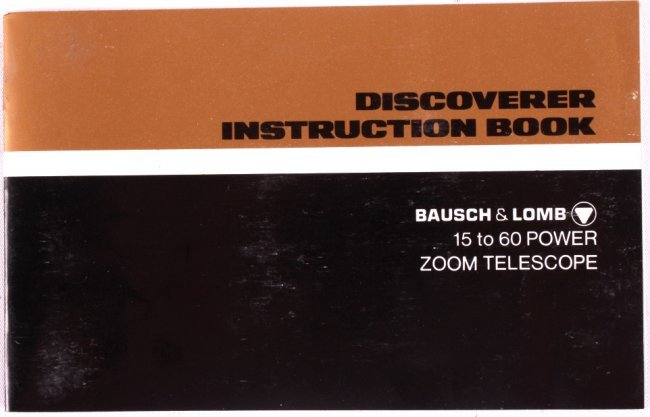 bausch and lomb discoverer zoom telescope manual