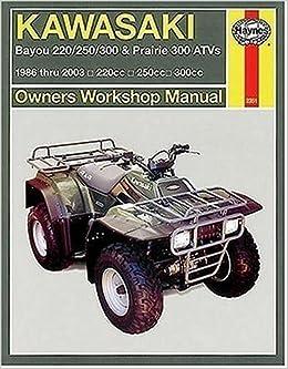 2003 kawasaki bayou 250 service manual
