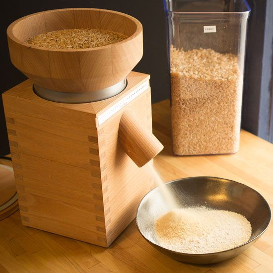 how to make a manual grain mill