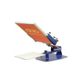 manual screen printing press stock photos