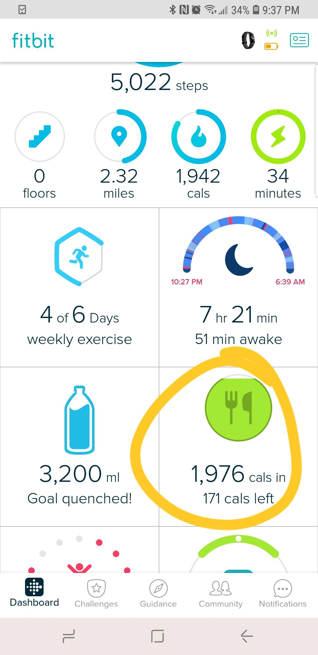 fitbit dashboard weight tracking manual