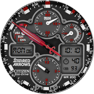 citizen eco drive red arrows manual download