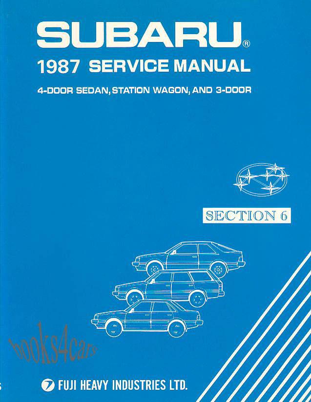 subaru impreza rs 2.5 repair manual