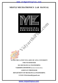 metrology and measurements lab manual regulation 2013