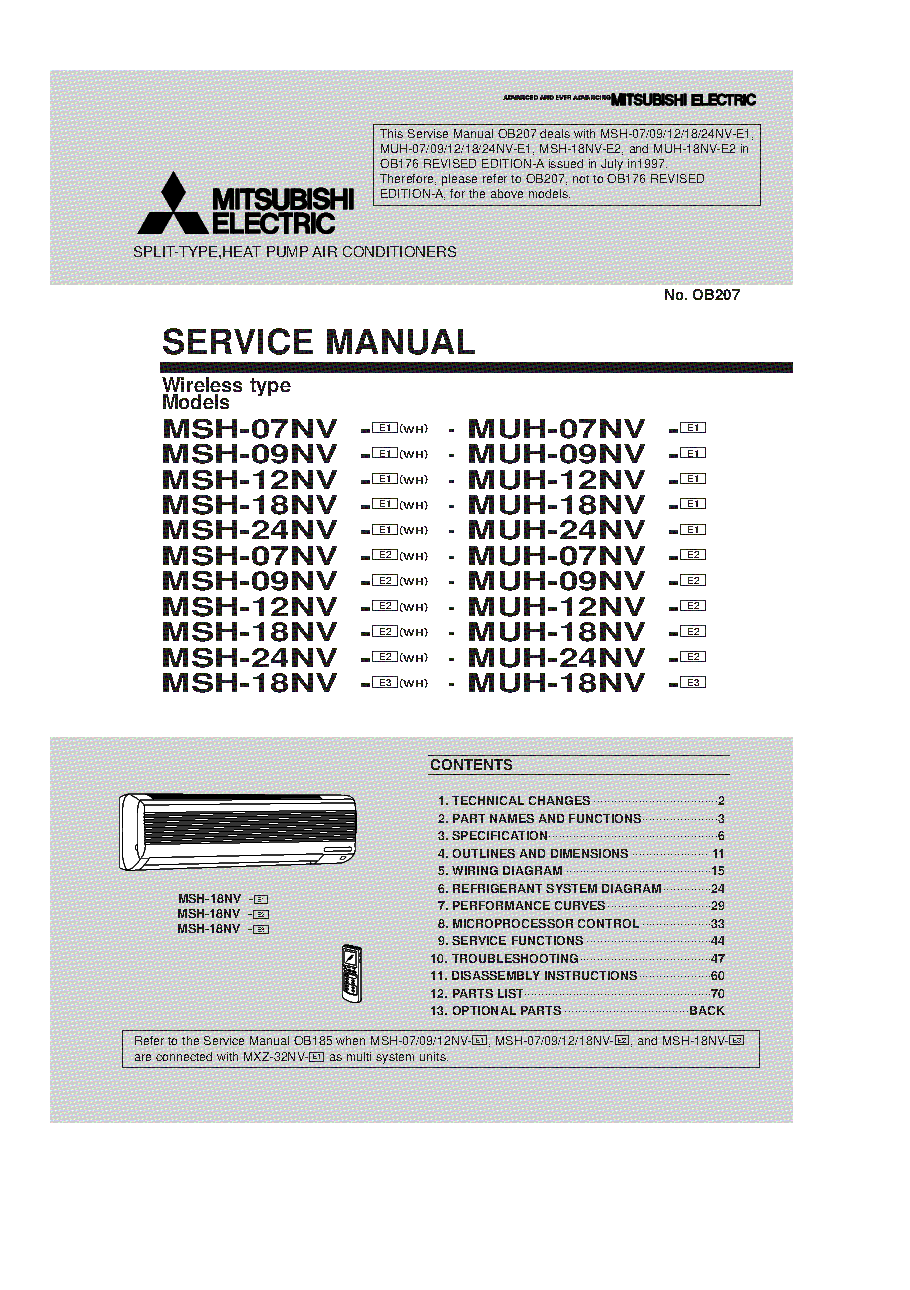 mitsubishi msh17tn service manual download