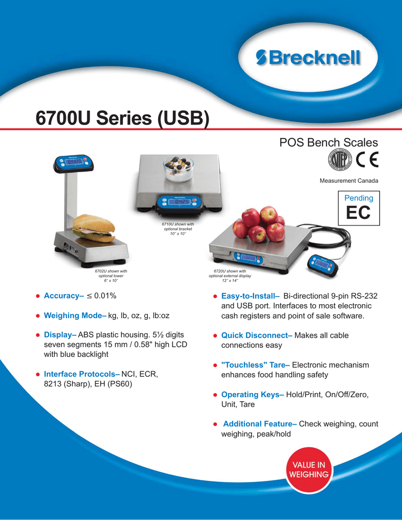 6700u series bench retail scale manual