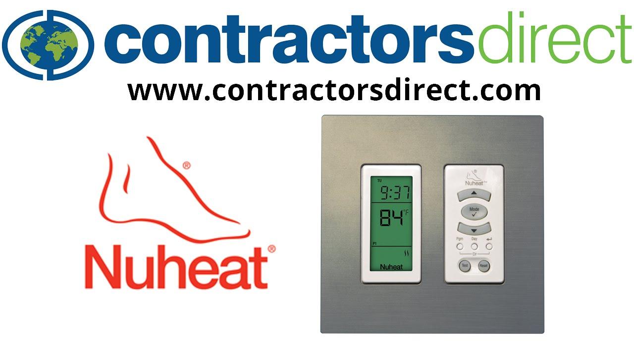 flextherm floor heating programable thermostat manual
