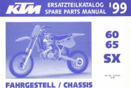 ktm spare parts manual chassis