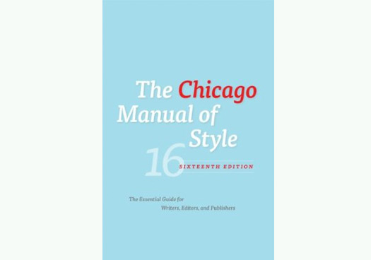 the chicago manual of style however
