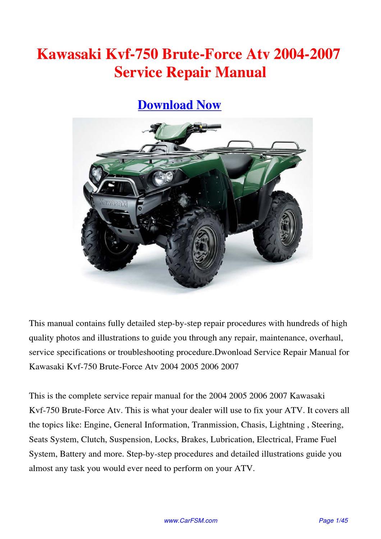 2010 kawasaki brute force 750 manual