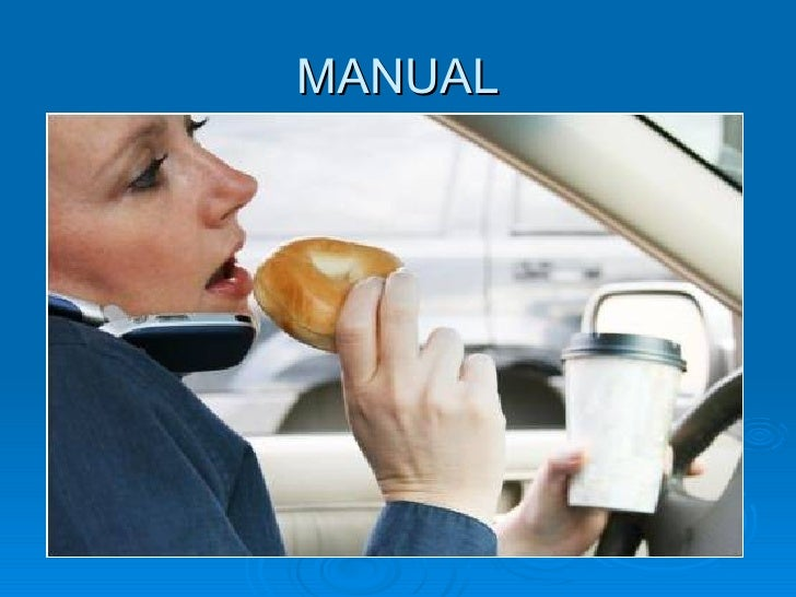 visual manual and cognitive distractions while driving