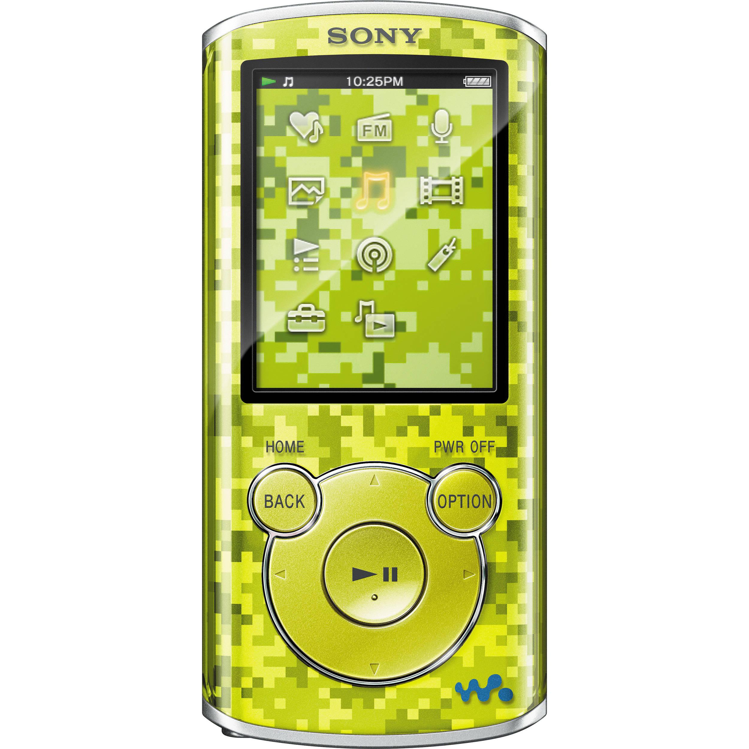 sony walkman mp3 8gb player manual
