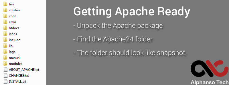 manually install apache windows 10