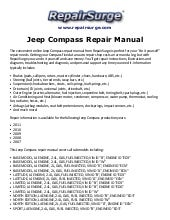 2015 jeep compass repair manual