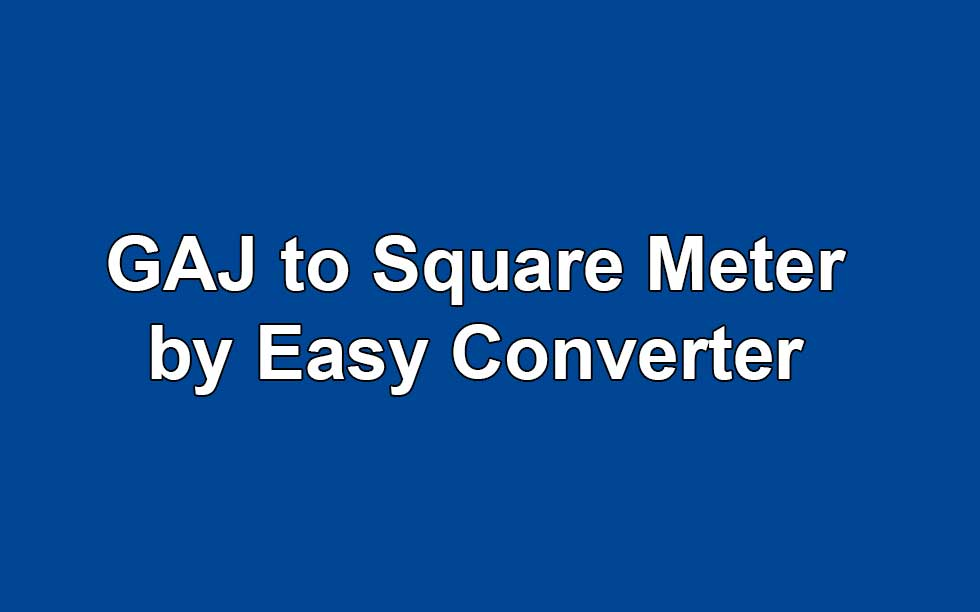 how to manually convert sqft to m2