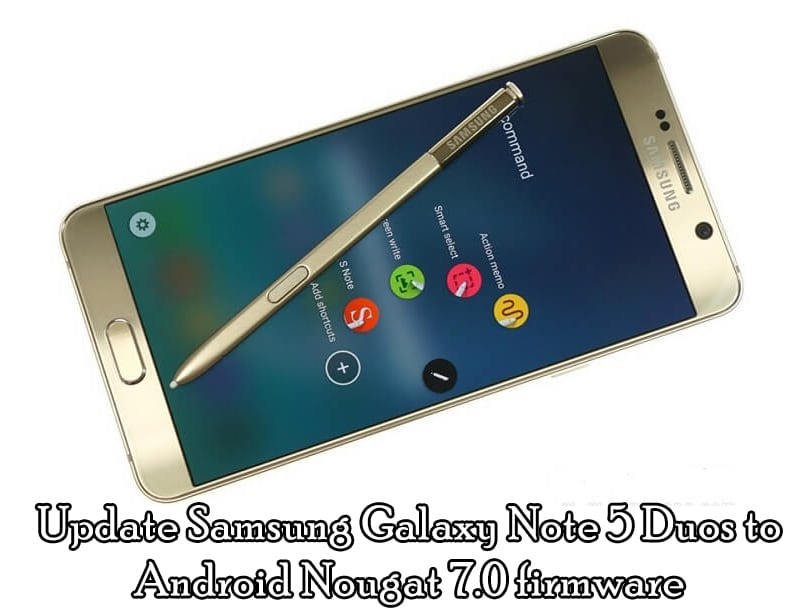 how to manually update note 5 to nougat
