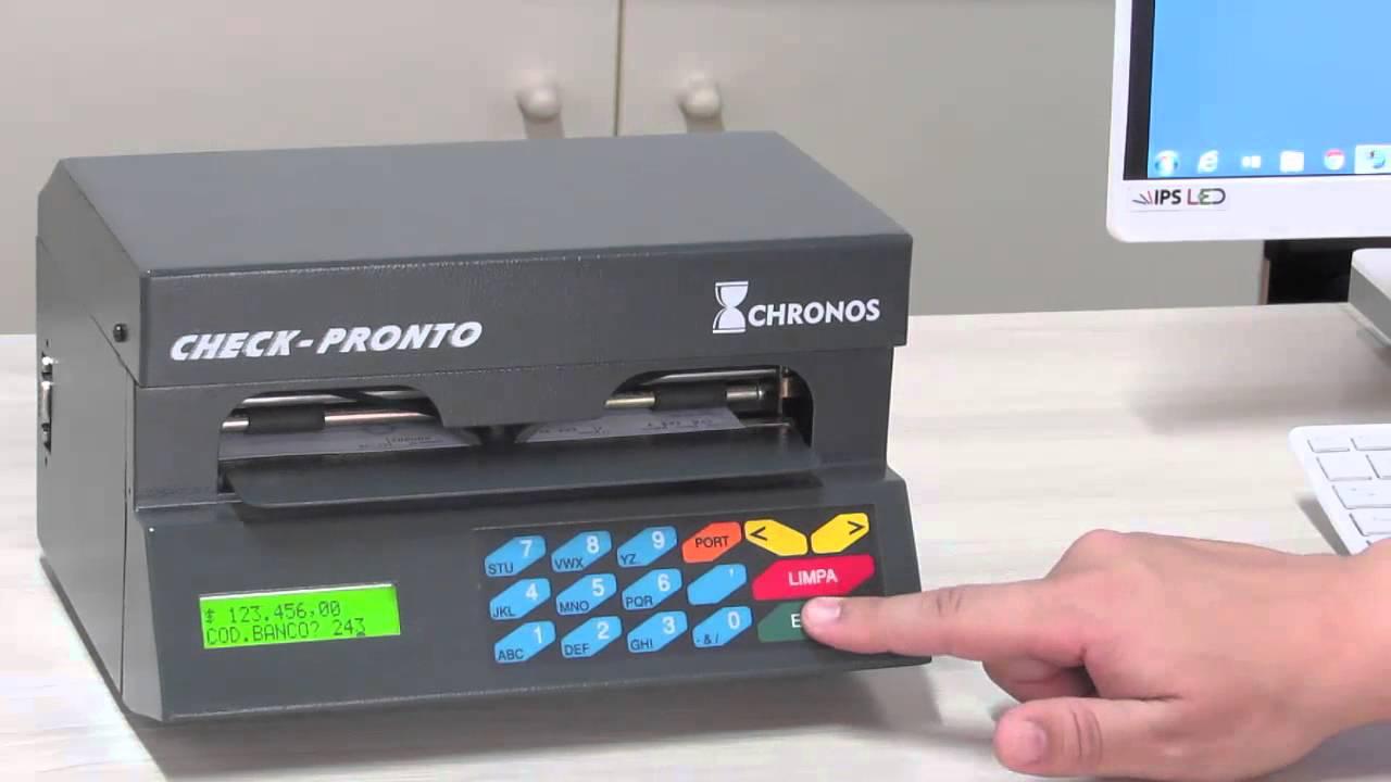 manual impressora de cheques chronos
