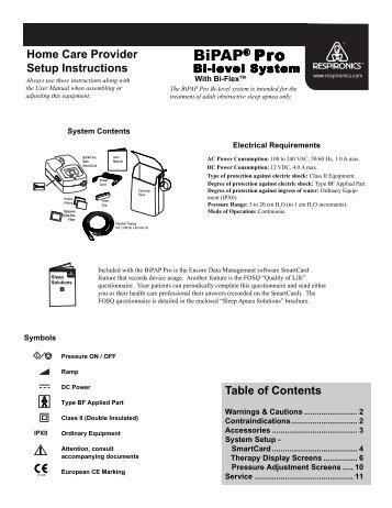 bipap pro 2 domestic 1012986 manual