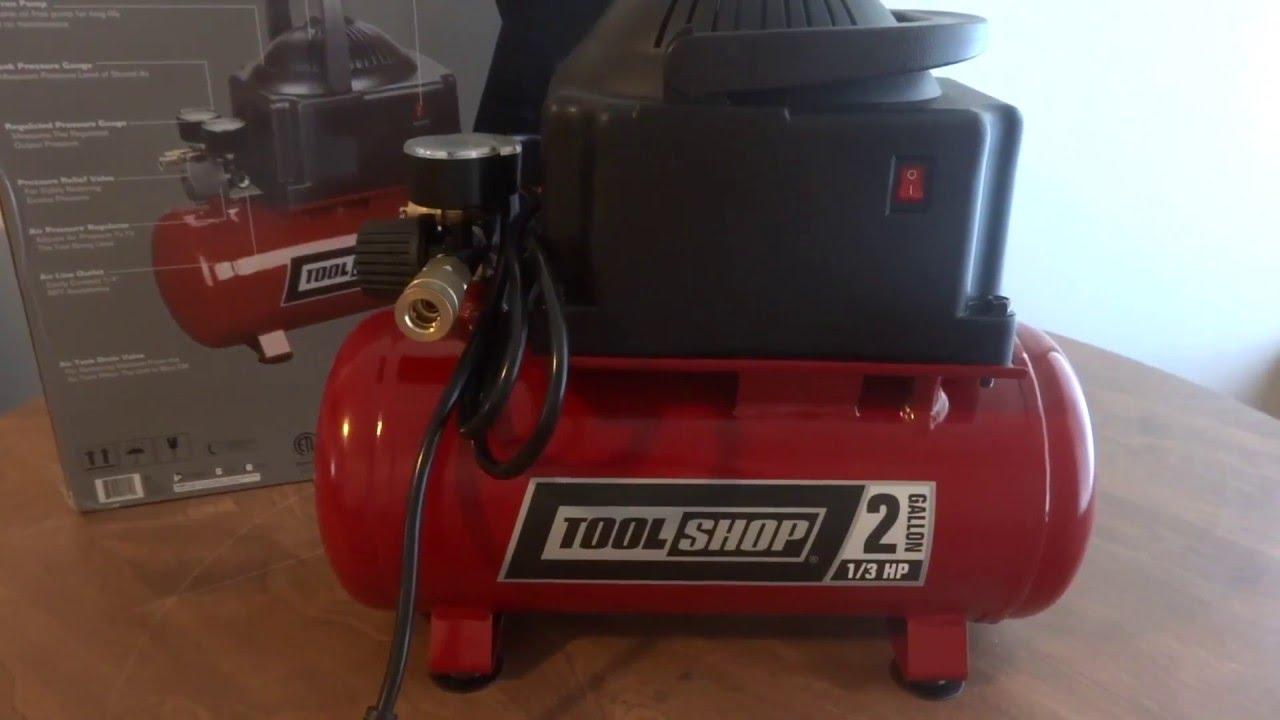 tool shop 2 gallon air compressor manual