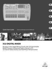 behringer x32 producer digital mixer manual