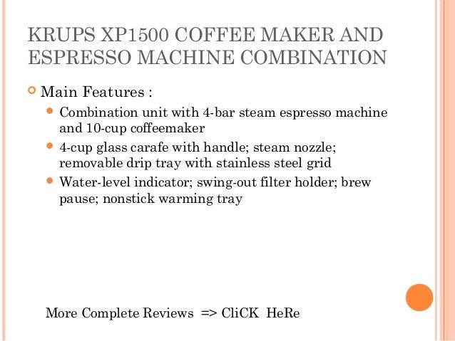 krups espresso coffee maker xp1500 manual