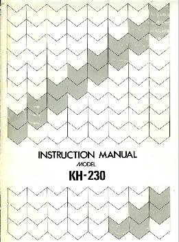 singer chunky knitter model 150 manual