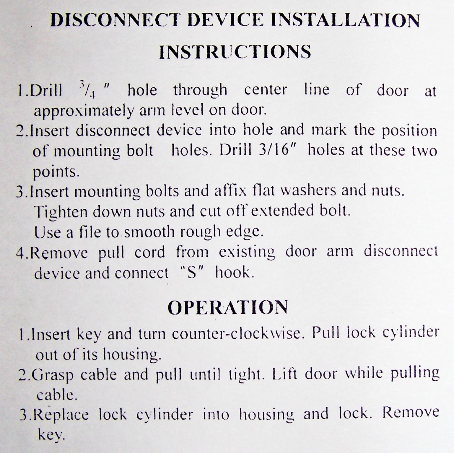 how to manually lock my garage door