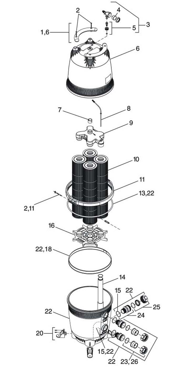 jandy 340 cartridge filter manual