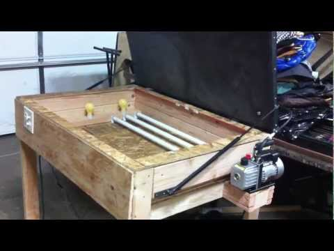 manual vacuum screen printing table