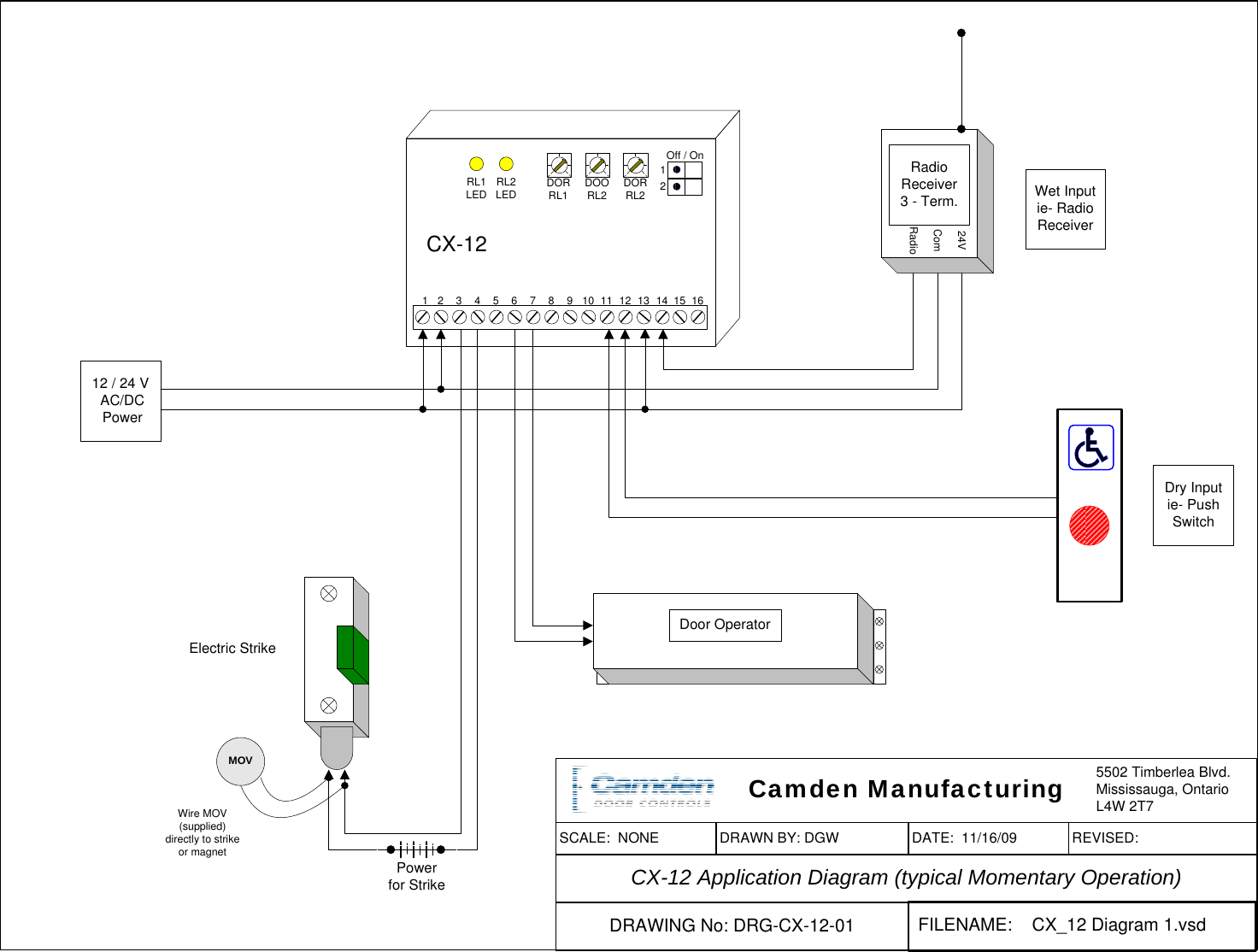 camden cx-12 switching network manual