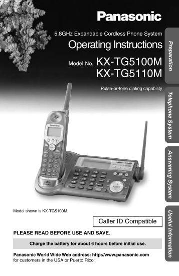 panasonic kx-ts600w user manual