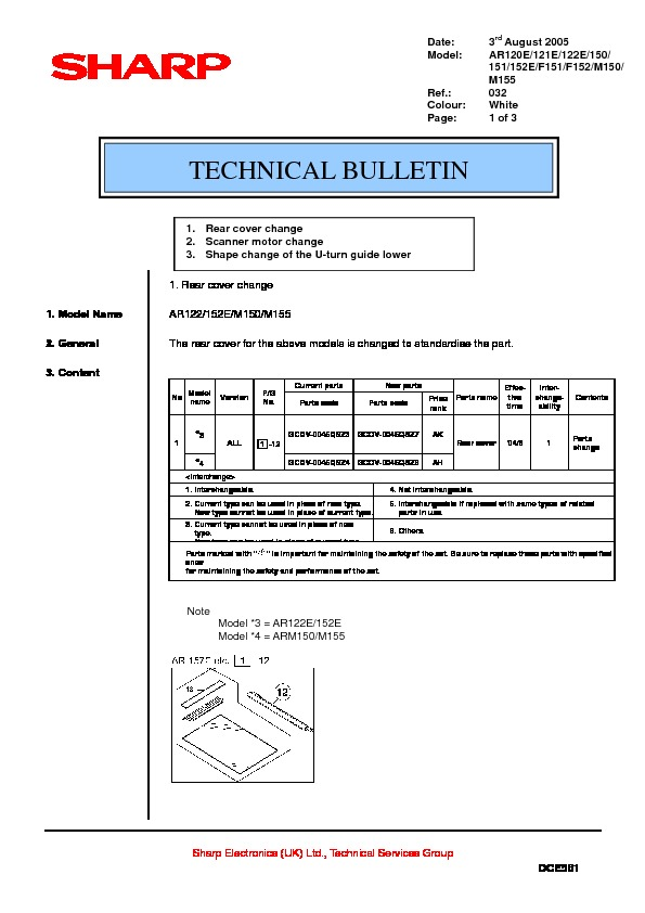 bulletins used in technical manual