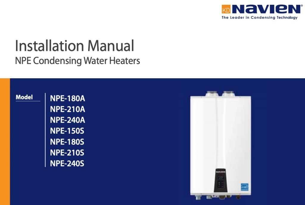 navien nr 210a service manual