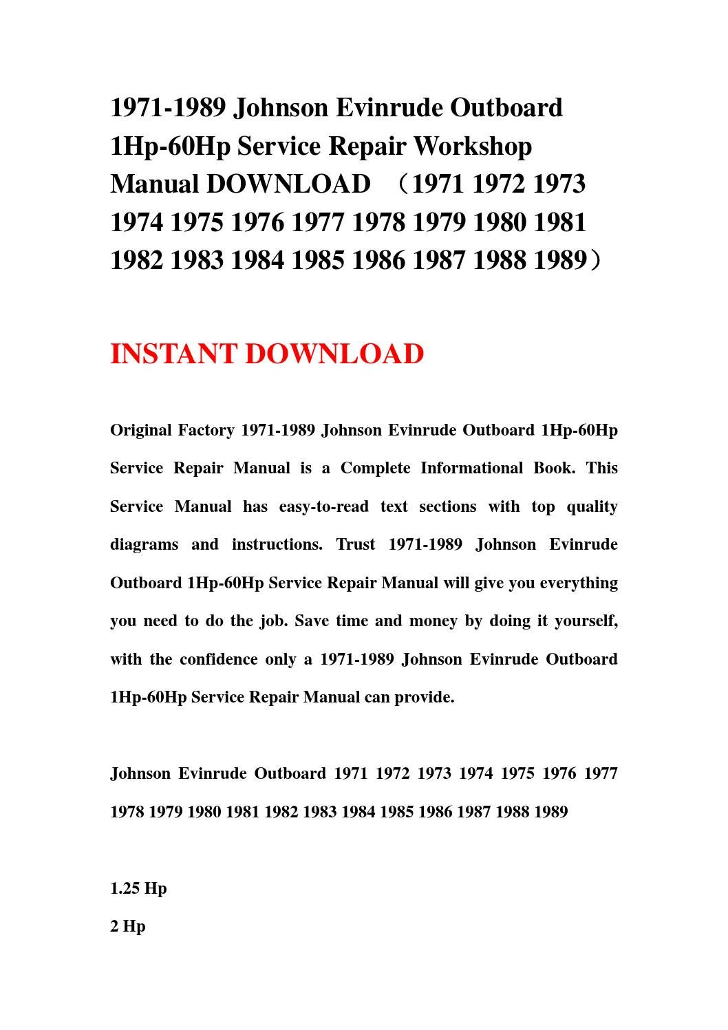 1975 evinrude 9.9 service manual download