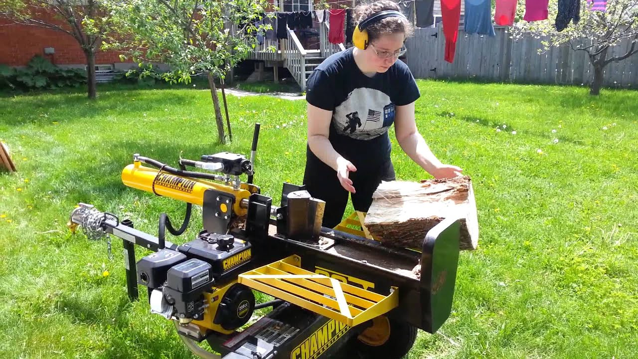 canadian tire log splitter manual