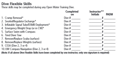 open water diver manual answers chapter 4