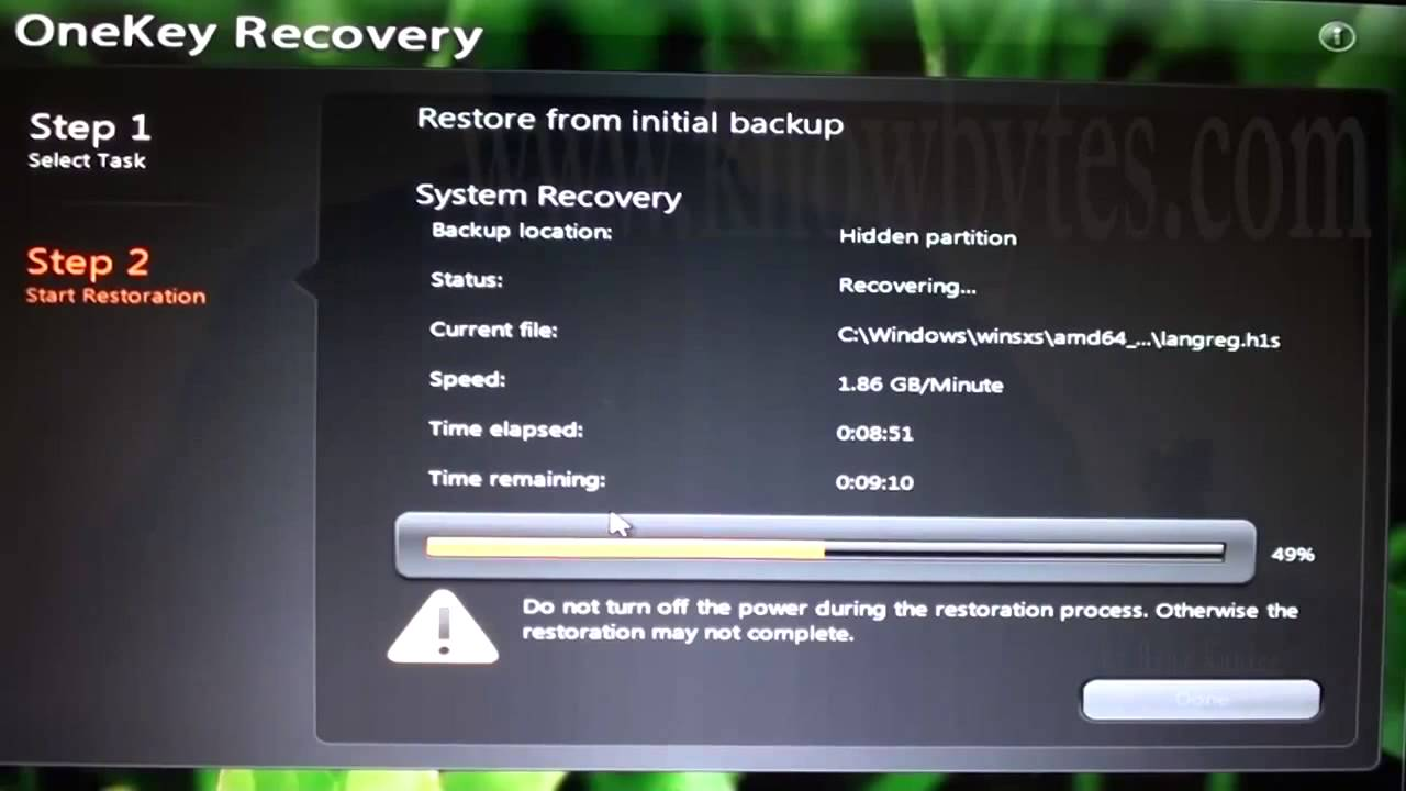 computer needs to be manually recovered