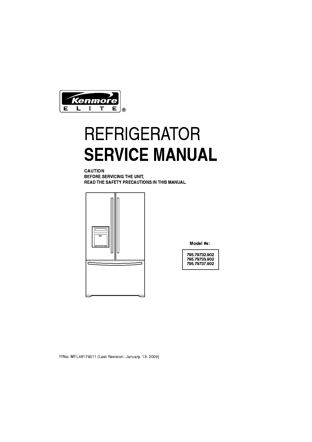 kenmore elite a100e service manual