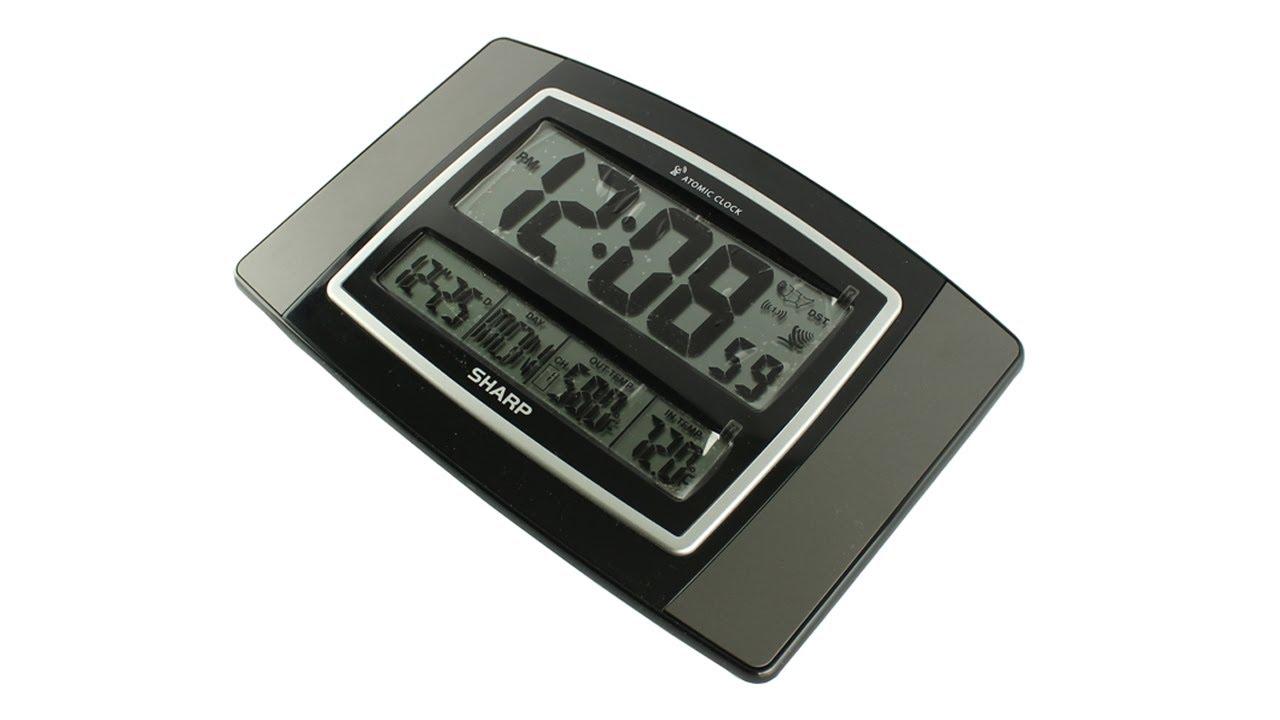 sharp atomic clock manual spc374t